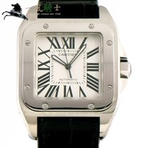 Cartier Santos 100 pre-owned 51mm White Leather
