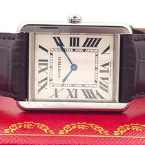 Cartier Tank Solo Steel 27mm White Roman numerals