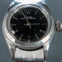 Rolex Oyster Perpetual Otel 24mm Negru Fara cifre