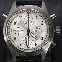 IWC Pilot Double Chronograph Stål 42mm Silver Arabiska