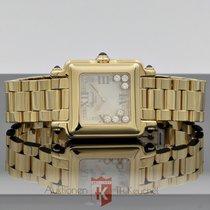 Chopard new Quartz Gemstone 26mm Yellow gold Sapphire crystal