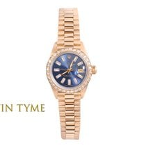 Rolex Lady-Datejust Or jaune 26mm Bleu