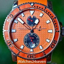 Ulysse Nardin Steel Automatic pre-owned Maxi Marine Diver