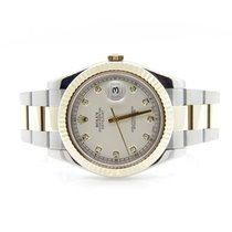 Rolex 116333 Datejust II Factory Ivory Diamond Dial Box & Papers