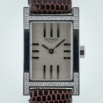 Hermès Tandem TA1.230, Ladies, St Steel, Diamond Bezel