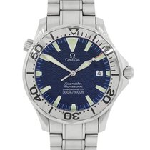 Omega Seamaster Diver 300 M pre-owned 41mm Blue Steel