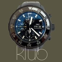 IWC Aquatimer Chronograph Steel 44mm Black No numerals