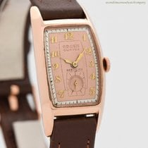 Gruen Rose gold 21mm Manual winding Curvex pre-owned