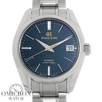 Seiko Grand Seiko Steel 39.5mm Blue No numerals