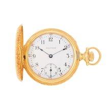 Waltham Gelbgold Handaufzug Weiß Arabisch 34mm gebraucht