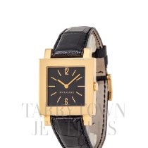 Bulgari Quadrato Yellow gold 29mm Black United States of America, New York, Hartsdale