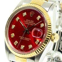 Rolex Datejust Gold/Steel 36mm Red