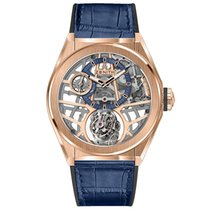 Zenith Rose gold Manual winding Transparent No numerals 44mm new Defy