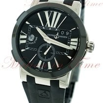 Ulysse Nardin Steel Automatic Black Roman numerals 43mm new Executive Dual Time
