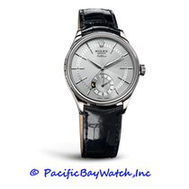 Rolex White gold Automatic Silver 39mm new Cellini Dual Time