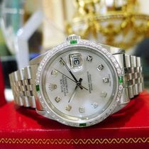 Rolex Oyster Perpetual Datejust Diamonds White Gold Mother-of-...