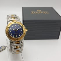 Zodiac 38mm Automatik 1993 neu Sea Wolf Blau
