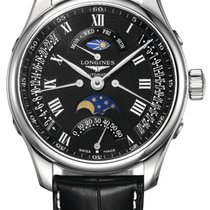 Longines Master Collection Steel 44mm Black Roman numerals