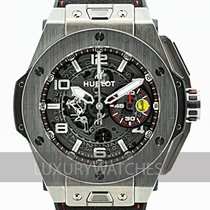 Hublot Big Bang Ferrari gebraucht 45mm Transparent Leder