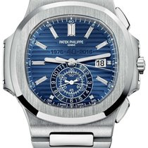 Patek Philippe White gold Automatic Blue No numerals 44mm new Nautilus