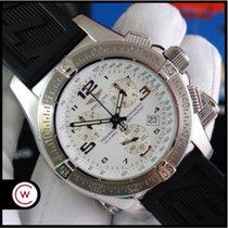 Breitling Emergency Stahl 45mm Weiß Arabisch