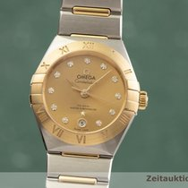Omega Constellation Ladies occasion 29mm Or Date Or/Acier