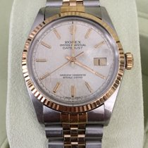 Rolex Oyster Datejust Gold Steel White Jubilee Dial 36 mm (1986)