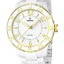 Festina Ceramic Quartz White 38mm new