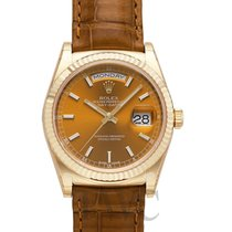 Rolex Day-Date 36 Yellow gold 36mm Brown