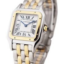 Cartier W2PN0007 Panther De Mid Size in Steel with Yellow Gold...