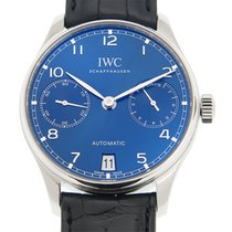 萬國 (IWC) Portuguese Stainless Steel Blue Automatic IW500710