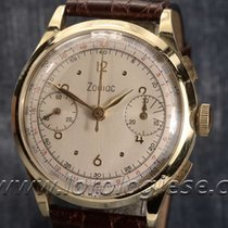 Zodiac Vintage Solid 18kt. Gold 37mm Chronograph Cal. Valjoux 22