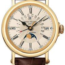 Patek Philippe Perpetual Calendar Žluté zlato 38mm Bílá Římské