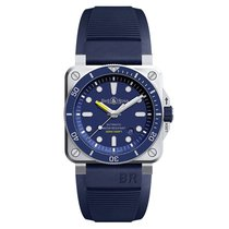 Bell & Ross Men's BR 03-92 Steel Diver Blue
