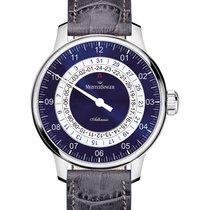Meistersinger Adhaesio Stahl 43mm Blau Arabisch