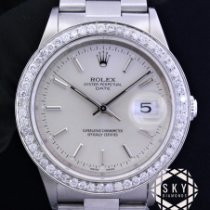 Rolex Oyster Perpetual Date Steel 34mm No numerals United States of America, New York, NEW YORK