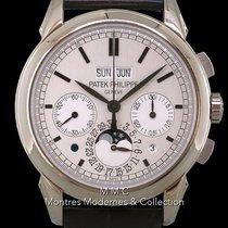 Patek Philippe Perpetual Calendar Chronograph Or blanc 41mm Argent Sans chiffres France, Paris