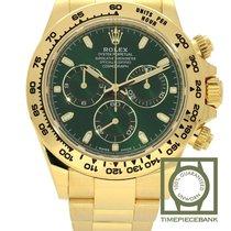 Rolex Daytona Geelgoud 40mm Groen Geen cijfers