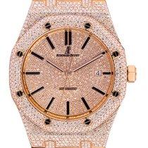 Audemars Piguet Royal Oak Selfwinding Růžové zlato 41mm Oranžová
