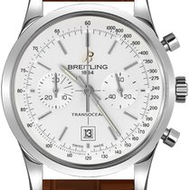 Breitling Transocean Chronograph 38 Stahl 38mm Silber