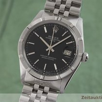 Rolex Oyster Perpetual Date Ατσάλι 34mm Μαύρο