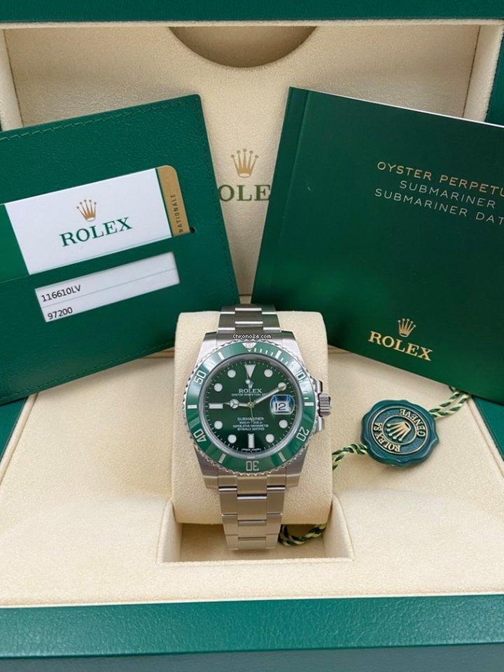 Rolex Submariner Date 116610LV Hulk 2019 new