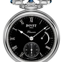 Bovet Fleurier White Gold Leather Unisex Watch