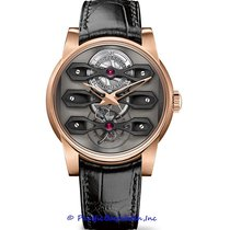 Girard Perregaux Rose gold Automatic Grey 45mm pre-owned Bridges