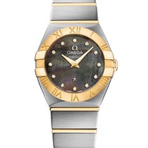 Omega Constellation Tahiti Quartz Stainless Steel 24mm Ladies...