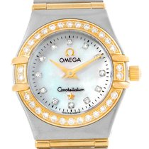 Omega Constellation Mini Mother Of Pearl Diamond Watch 1267.75.00