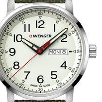 Wenger Steel 42mm Quartz 01.1541.110 new