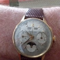 Leonidas Chronograph Manual winding 1950 pre-owned Silver