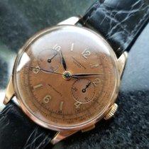 Chronographe Suisse Cie Men's 18K Solid Gold cal.156 Chronogra...