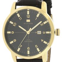Tommy Hilfiger Gold-Tone Leather Mens Watch